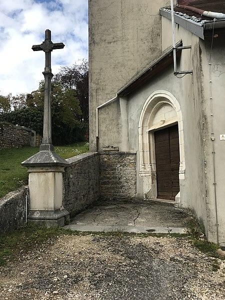 Commune de Montfleur (Jura, France) en octobre 2017.