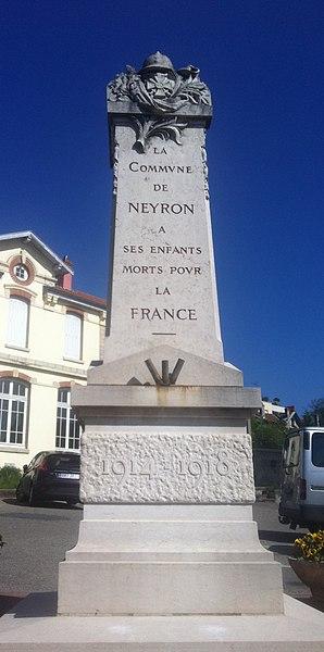 Monument aux morts, de Neyron, dans l'Ain.