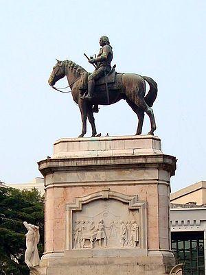 Banda Oriental - Monument to Bruno Mauricio de Zabala in Montevideo.