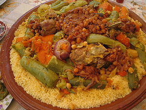 Couscous - Couscous with various toppings