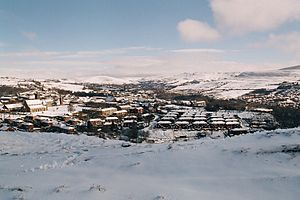 Mossley - Mossley's proximity to the Saddleworth Moor and the Pennines makes it prone to precipitation.