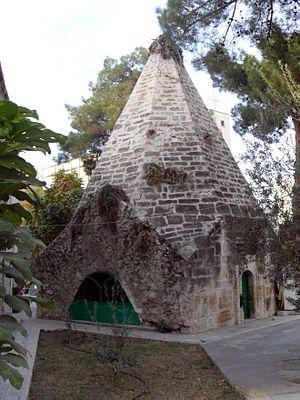 Laal Pasha Mosque - Image: Mouseloum in Laal Pasha Mosque, Mut, Mersin