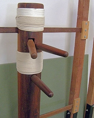 Wing Chun - The Hong Kong wall mounted version of the Wooden Dummy