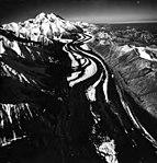 Muldrow Glacier, valley glacier with medial moraine, September 3, 1970 (GLACIERS 5197).jpg