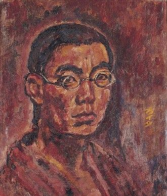 Kaita Murayama - Murayama Kaita's Self portrait in the Osaka Municipal Museum of Art