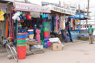 Musoma - Small shops around the bus station