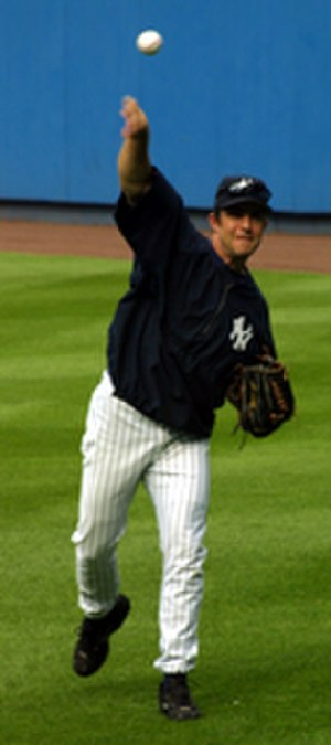 Mike Mussina - Mike Mussina with Yankees on August 30, 2002.