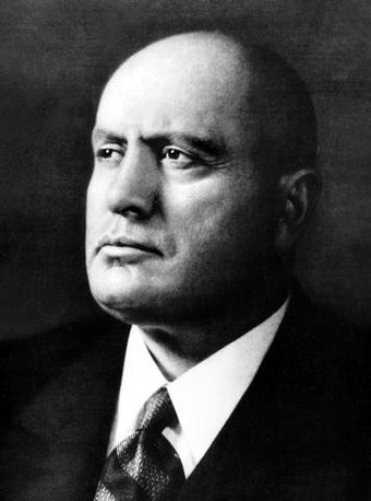 Benito Mussolini, longest-serving Prime Minister of Italy and Duce of fascism Mussolini biografia.jpg