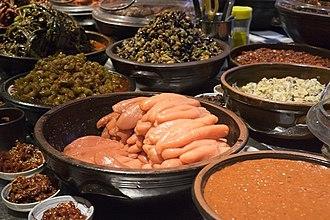 Pollock roe - Image: Myeongnanjeot (pollock roe) in a market