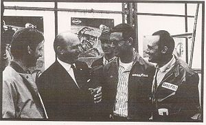 Fred Gamble (racing driver) - Nürburgring 1967 with Juan Fangio, Gamble and Walter Koenig