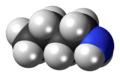 N-Butylamine molecule spacefill.png