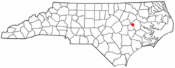 Location of Farmville, North Carolina