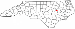 Farmville, North Carolina - Image: NC Map doton Farmville