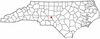 Star, North Carolina - Image: NC Map doton Star