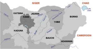 Yobe River - Northeast Nigeria states and rivers
