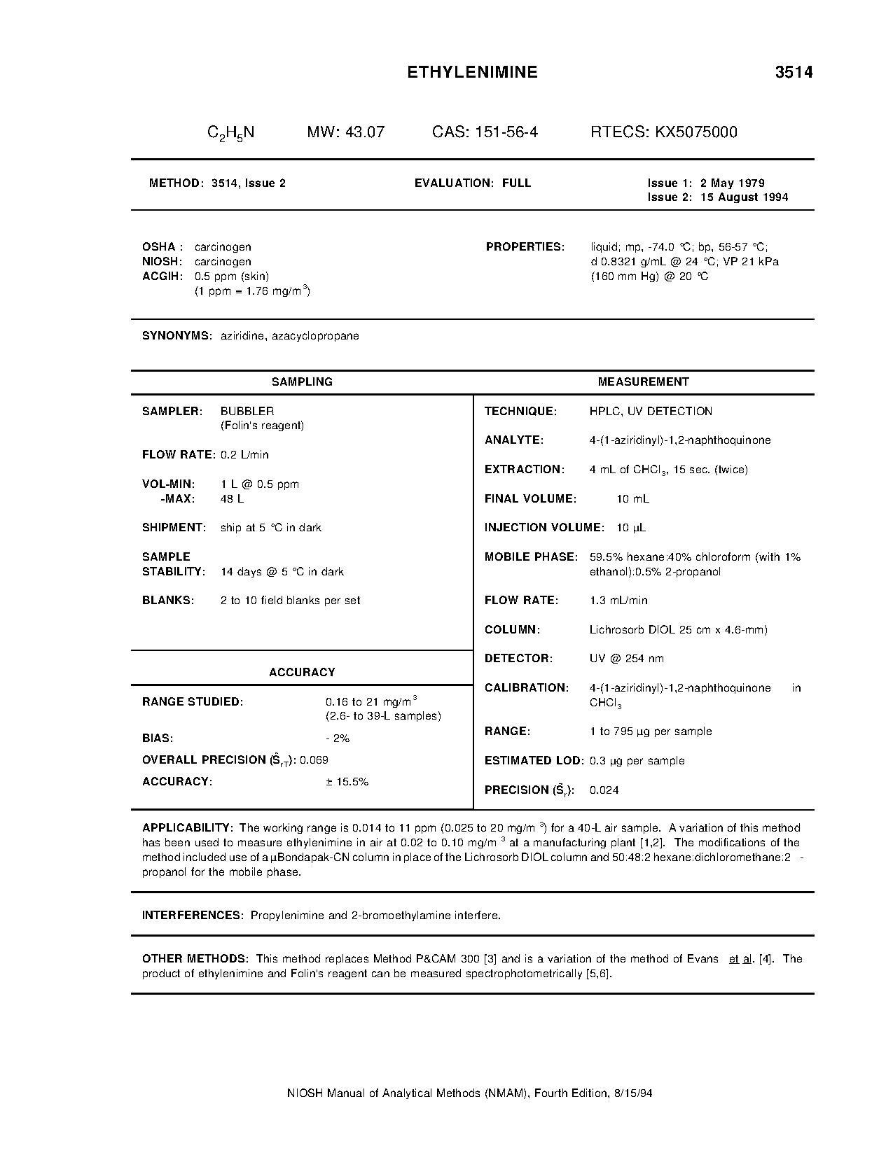 niosh manual of analytical methods 5th edition pdf