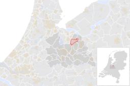 Locatie van de gemeente Baarn (gemeentegrenzen CBS 2016)
