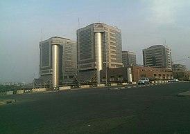Штаб-квартира в башнях NNPC в городе Абуджа