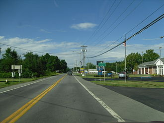 New York State Route 50 - Image: NY 50N at the Saratoga County line