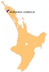 NZ-Hokianga Harbour.png Location map of the Hokian...
