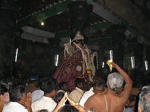 Uthsavar - Some famous Utsavars: The Stone Utsavar of Nachiyar Kovil, one of its kind where Utsavar deity is made of stone.