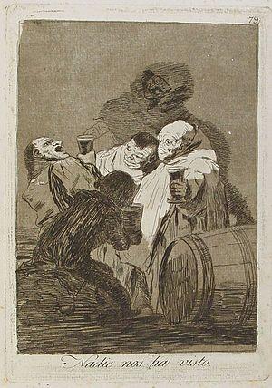 Capricho nº 79: Nadie nos ha visto de Goya, se...