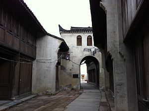 Haining - Image: Nanguanxiang Haining 01