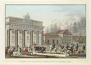 Edme Bovinet - Entrèe des Français à Berlin 1806 by Jacques François Joseph Swebach-Desfontaines