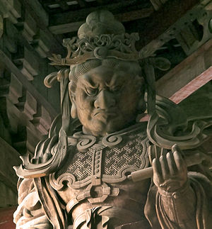 Guardian in Todaiji, Nara