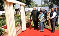 Narendra Modi unveiling the plaque commemorating officers who laid down their lives in national service at Heads of Missions Conference, in New Delhi. The Union Minister for External Affairs and Overseas Indian Affairs.jpg