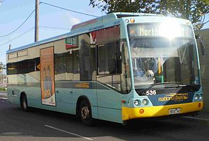 National Bus Company (Australia) - Custom Coaches bodied MAN 15.220 in the Ventura Bus Lines style livery