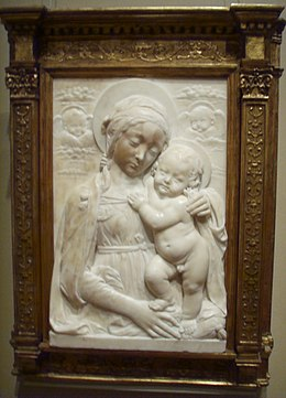National gallery in washington d.c., benedetto da maiano, madonna col bambino 1475.JPG