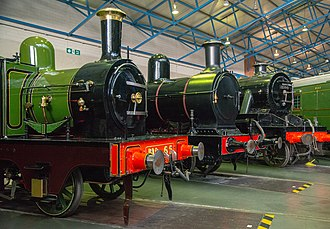National Railway Museum - Some of the locomotives on display at the National Railway Museum, York