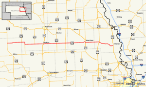 Nebraska Highway 32 - Image: Nebraska Highway 32 map