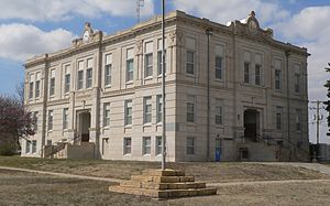 Ness County courthouse in Ness City