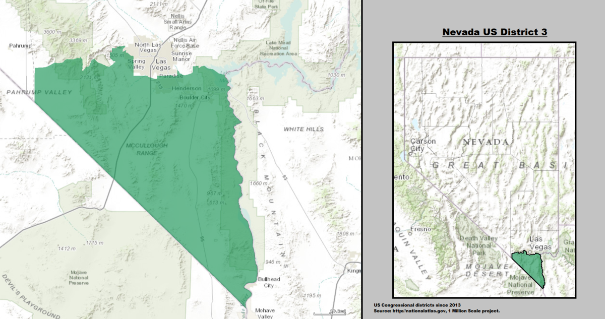 Nevada39s 3rd Congressional District  Wikipedia