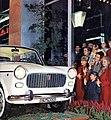 New 1100 D at Fiat showroom in Via Roma (Turin), 1962.jpg