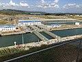 New Gatun Locks gates and holding pond.agr.jpg