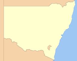 Mount Kosciuszko markeret på kortet.