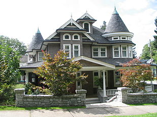 Modern Replica Of A Shingle Style House C 2004 Opposite Queen S Park New Westminster British Columbia