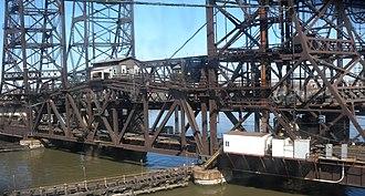 Passaic and Harsimus Line - Harsimus Branch Lift Bridge over the Hackensack River