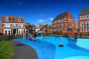 Newcastle Great Park - Play park within Melbury development