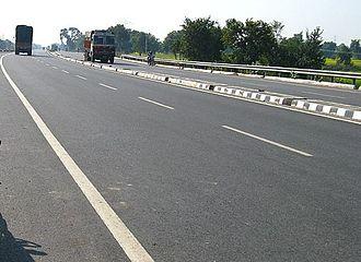 Darbhanga - NH 57 which is part of India's East-West highway corridor passes through Darbhanga