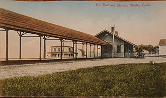 Niantic station - Niantic station on an early-20th-century postcard