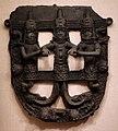 Nigeria, regno del benin, placca semicircolare traforata, 1500-1897 ca.jpg