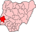 Map of Nigeria highlighting Oyo State