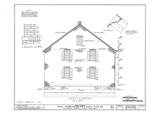 Nine Partners Meetinghouse, State Route 82 Vicinity, Millbrook, Dutchess County, NY HABS NY,14-MILB,1- (sheet 4 of 8).png
