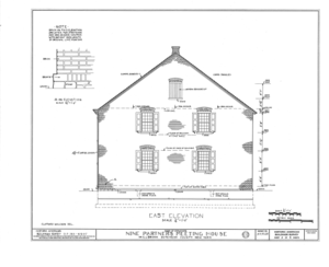 Nine Partners Meetinghouse, State Route 82 Vicinity, Millbrook, Dutchess County, NY HABS NY,14-MILB,1- (sheet 5 of 8).png