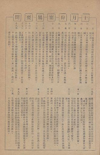 Chiungtze C. Tsen - Tsen's death reported by the journal Xin Ningyuan Yuekang, Vol. 1, No. 3.