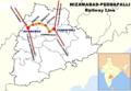 Nizamabad to Peddapalli Railway Map.png